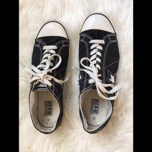 Converse All Star STAR Black Tennis Shoe, Men 9.5